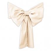 Декоративный бант (лента): «Микрофибра» цвет Ваниль