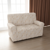 Чехол для двухместного дивана: «Фантазия» цвет Белый Мрамор, модель с юбкой