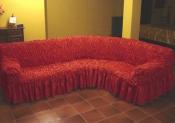 Чехол для углового дивана: «Фантазия» цвет Вишня