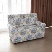 Чехол для двухместного дивана: «Фантазия» цвет Весенний букет, модель с юбкой