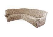 Чехол для углового дивана: «Жаккард» цвет Волны