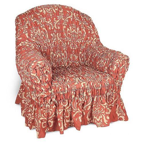 Чехол на кресло на резинке своими руками